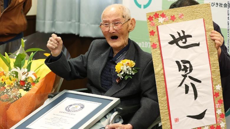 Người đàn ông lớn tuổi nhất thế giới đã qua đời ở tuổi 112 tại Nhật Bản