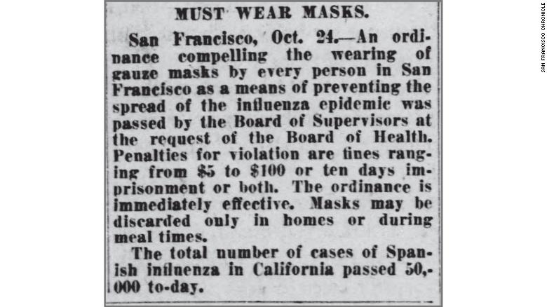 Trong đại dịch cúm năm 1918, việc không đeo khẩu trang là bất hợp pháp ở một số vùng của nước Mỹ. Những gì đã thay đổi?