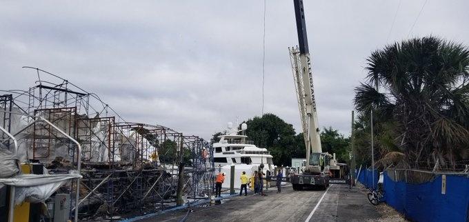 Hai chiếc du thuyền trị giá 20 triệu đô la vừa bị phá hủy trong một vụ hỏa hoạn.