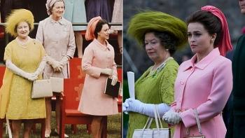 'The Crown' tái hiện phong cách Hoàng gia.