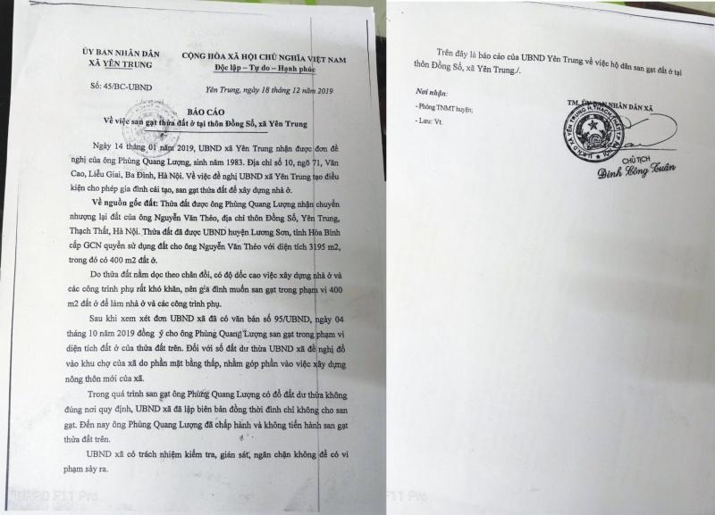 Thạch Thất: Lãnh đạo xã Yên Trung tiếp tay cho khai thác đất trái phép nhằm góp phần xây dựng nông thôn mới.