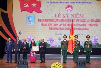 vinh phuc ky niem 70 nam ngay thanh lap tinh va don nhan huan chuong lao dong hang nhat