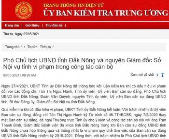 dak nong pho chu tich ubnd tinh ton thi ngoc hanh bi de nghi ky luat