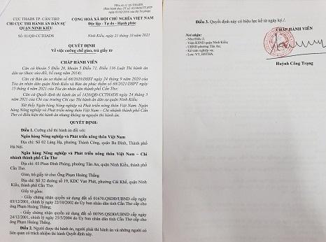 Chây ỳ, coi thường pháp luật, Agribank Việt Nam bị cưỡng chế thi hành án