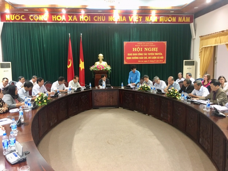 Gia Lai: Tổ chức Hội nghị giao ban công tác tuyên truyền, định hướng báo chí