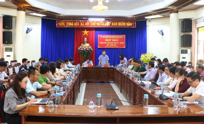 Gia Lai: Thành phố Pleiku họp báo thông tin tình hình phát triển kinh tế - xã hội