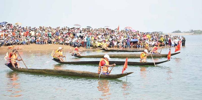 Hội đua thuyền độc mộc trên sông Pô Cô:Thành công từ lần tổ chức đầu tiên
