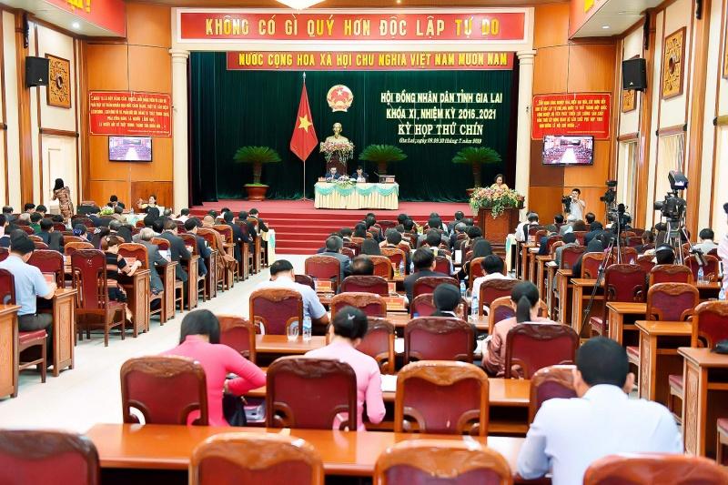 Gia Lai: Khai mạc kỳ họp thứ 9 HĐND tỉnh khóa XI, nhiệm kỳ 2016-2021