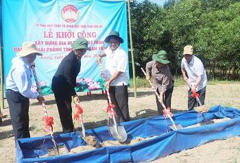 Xây dựng Bia di tích Mặt trận Dân tộc Giải phóng tại huyện KBang, tỉnh Gia Lai