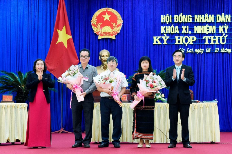 Gia Lai: Miễn nhiệm và bầu bổ sung các chức danh thuộc thẩm quyền của HĐND tỉnh