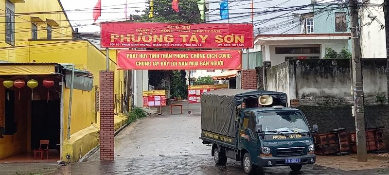 TP Pleiku ( Gia Lai ): 03 ca dương tính với SARS-CoV là người nhà của bệnh nhân ở phường Tây Sơn
