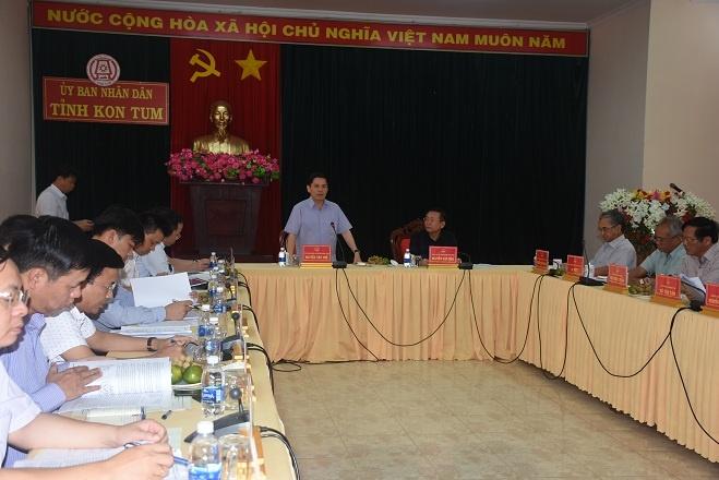 Bộ trưởng Giao thông Vận tải về thăm, làm việc vớitỉnh Kon Tum