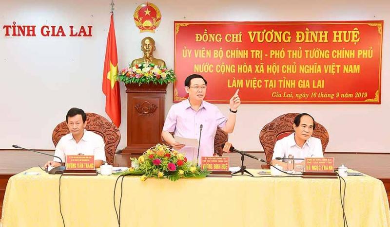Phó Thủ tướng Vương Đình Huệ: Gia Lai cần đột phá về kinh tế