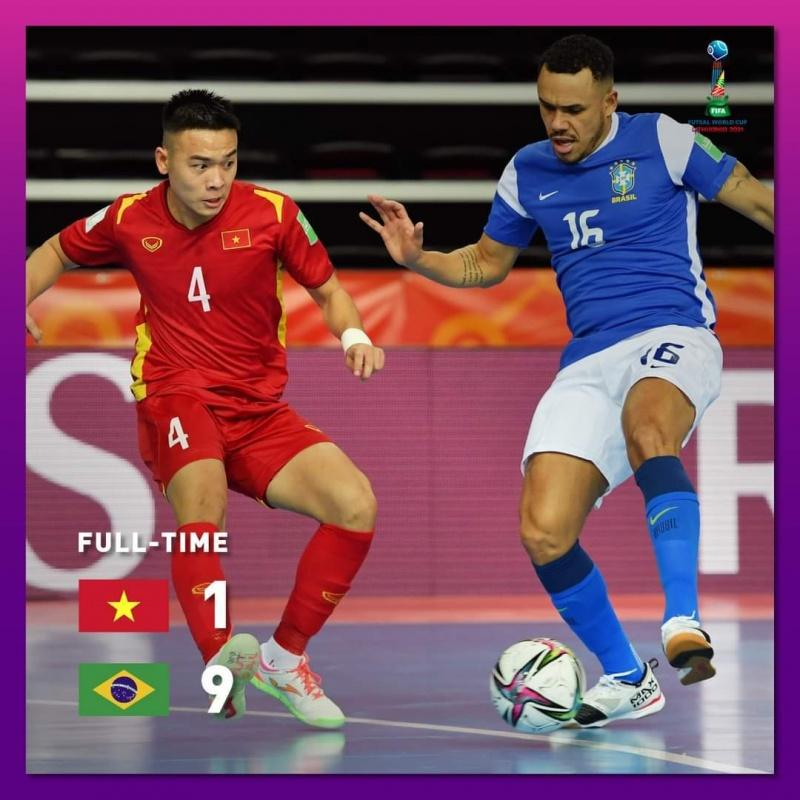 Tuyển futsal Việt Nam thua đậm Brazil trận ra quân World Cup