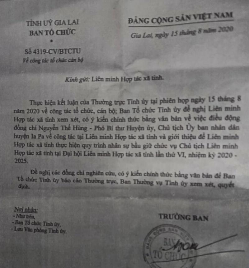 Gia Lai: Chủ tịch huyện bị kỷ luật lên chức?
