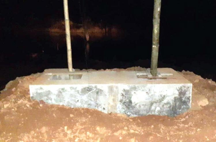 Gia Lai: Sụp đất hố móng khi thi công cầu, hai người chết