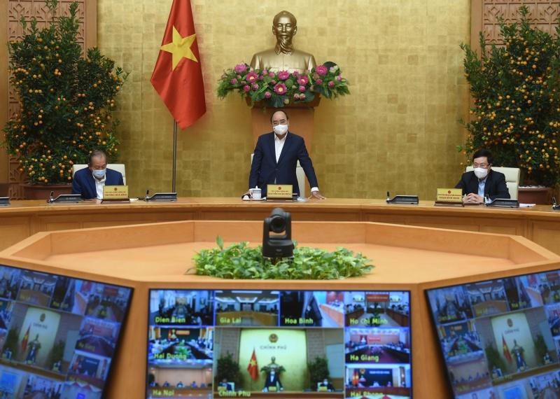 """Thủ tướng Nguyễn Xuân Phúc chủ trì họp Thường trực Chính phủ, """"chốt"""" một số vấn đề về phòng chống COVID-19"""