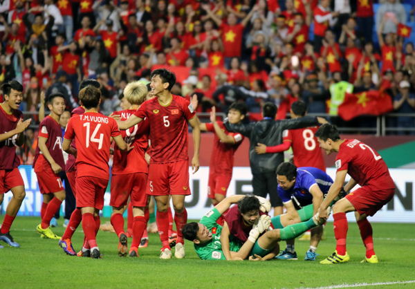 vck asian cup 2019 viet nam la doi dau tien gianh ve vao tu ket