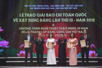 trao giai bao chi toan quoc ve xay dung dang lan thu iii nam 2018