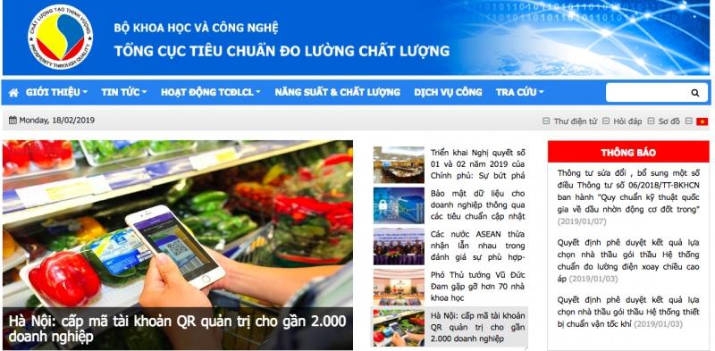 nhiem vu co cau to chuc cua tong cuc tieu chuan do luong chat luong