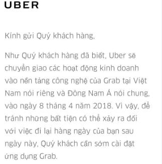 uber thong bao chinh thuc ngung hoat dong tai viet nam tu ngay 84