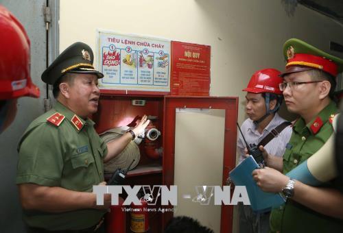 Kiểm tra PCCC một số chung cư ở Hà Nội, phát hiện nhiều sai phạm