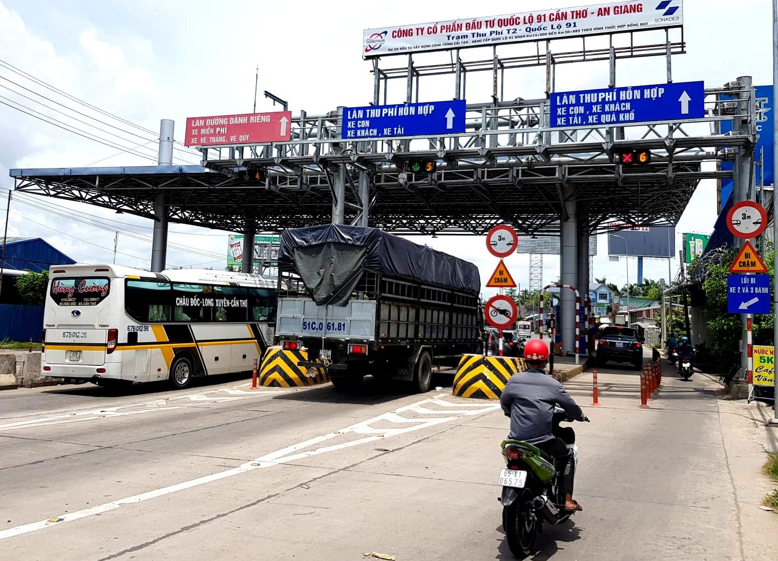 Mở rộng diện giảm giá cho các phương tiện quanh trạm thu phí T2 QL91