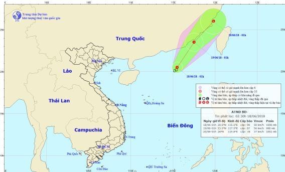 Dự báo thời tiết hôm nay 18/6: Xuất hiện áp thấp nhiệt đới trên biển Đông, cảnh báo mưa lớn trên diện rộng