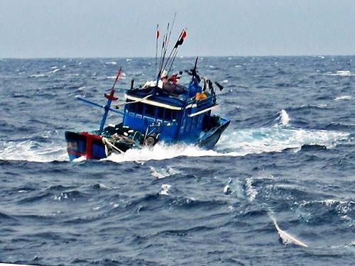 2 tàu cá của ngư dân Cà Mau bị sóng đánh chìm, một ngư dân mất tích