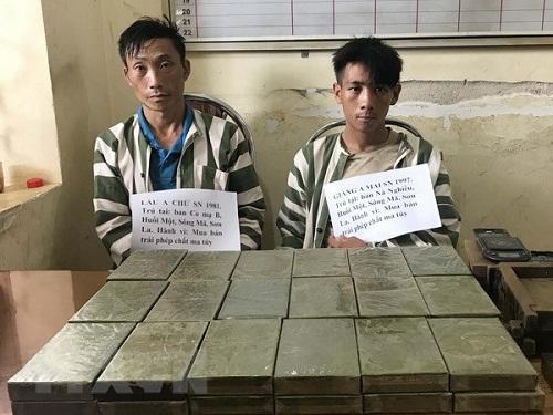 Sơn La: Bắt 2 đối tượng vận chuyển 36 bánh heroin