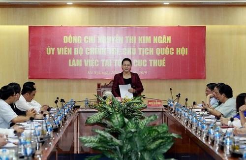 tinh gon bo may co quan thue phai bao dam khong lam that thu ngan sach