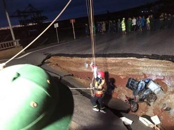 Đã xác định được nguyên nhân dẫn đến sự cố sạt lở đường khiến 2 vợ chồng tử vong ở Thanh Hóa