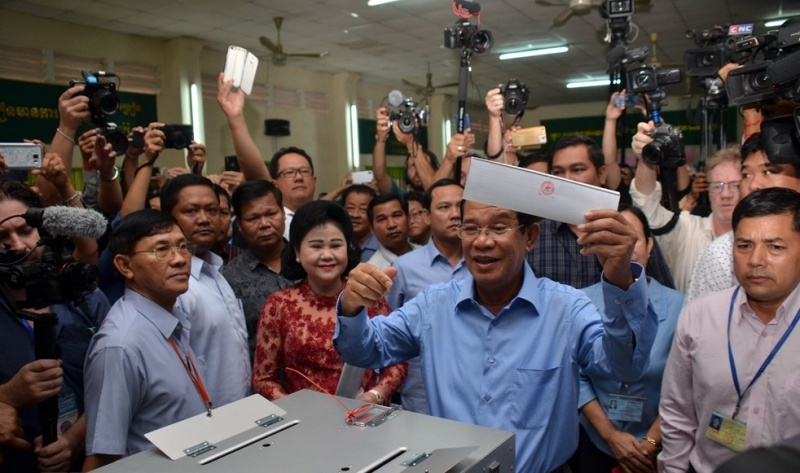 Điện mừng Campuchia tổ chức thành công cuộc bầu cử Quốc hội khóa VI