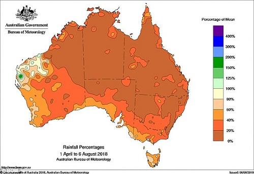 Úc đối mặt với hạn hán nghiêm trọng nhất 100 năm qua