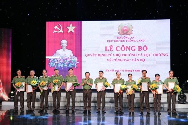 Bộ trưởng Bộ Công an ký quyết định bổ nhiệm đối với một số đơn vị an ninh
