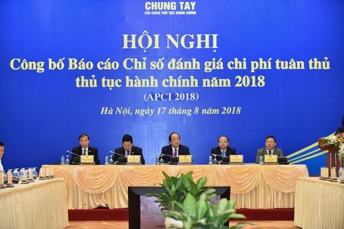 Bộ trưởng Mai Tiến Dũng chủ trì Hội nghị công bố Báo cáo Chỉ số đánh giá chi phí tuân thủ thủ tục hành chính