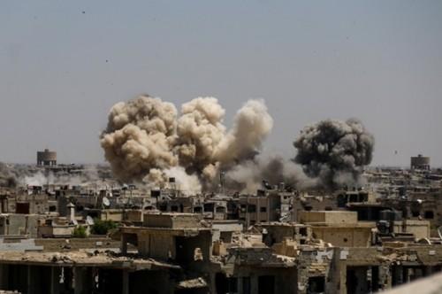 Syria bắn chặn nhiều tên lửa Isarel nã vào sân bay thủ đô Damascus