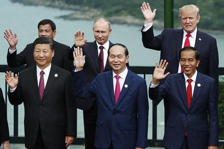Chủ tịch nước Trần Đại Quang với các nhà lãnh đạo thế giới