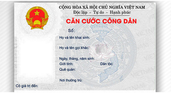 mien le phi cap doi the can cuoc cong dan cho mot so doi tuong