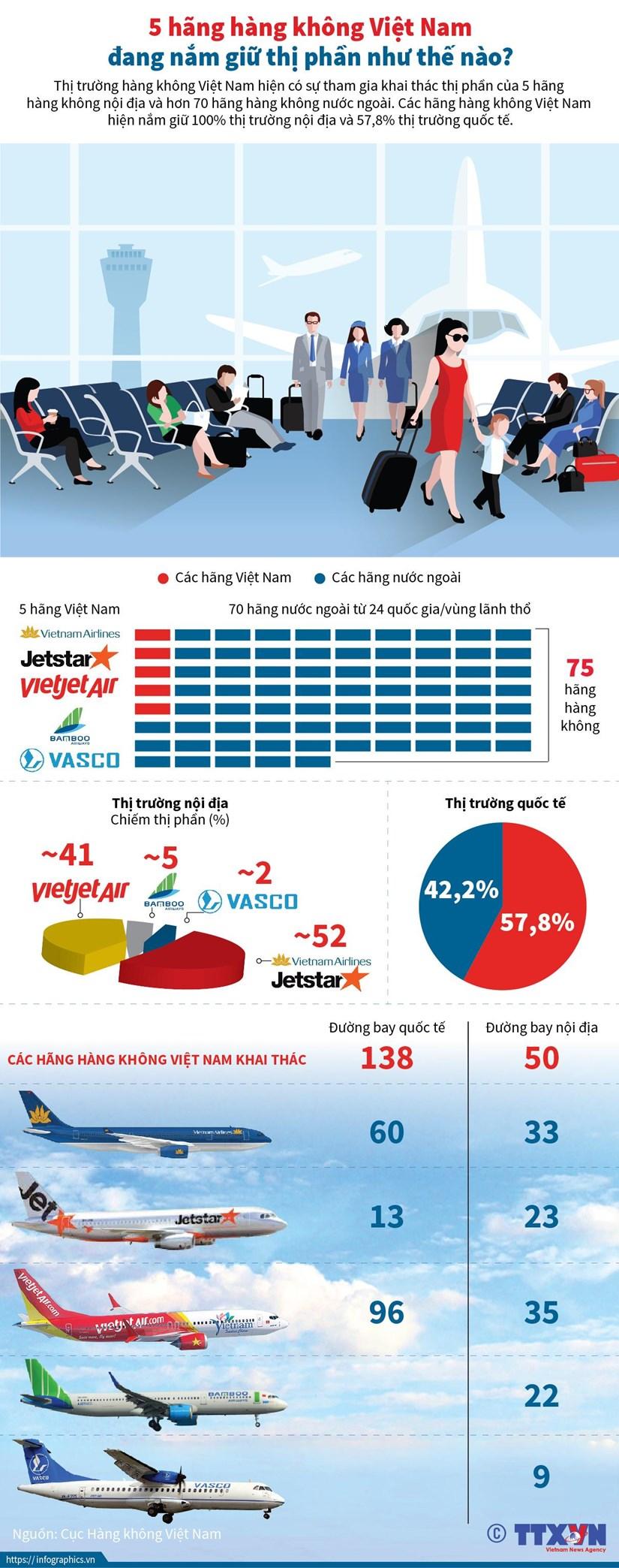 infographics thi phan cua 5 hang hang khong viet nam tai noi dia