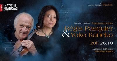 Đêm nhạc song tấu violon và piano của hai nghệ sĩ tài năng người Pháp và người Nhật