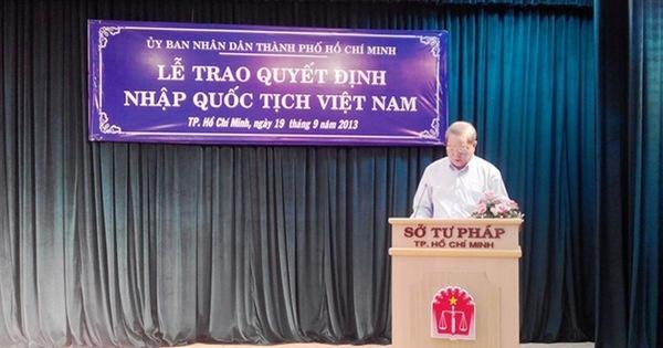 Dự thảo Nghị định quy định chi tiết một số điều và biện pháp thi hành Luật quốc tịch Việt Nam