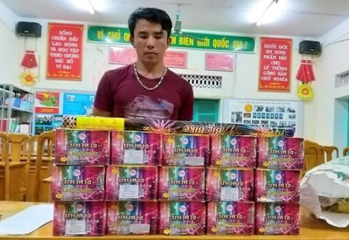 Quảng Trị: Phát hiện vụ vận chuyển trái phép 264kg pháo hoa