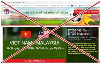 phat hien trang web gia ban ve online tran chung ket luot ve aff cup 2018