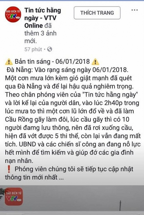 facebook gia mao vtv dang tin cau rong gay doi do lu lon