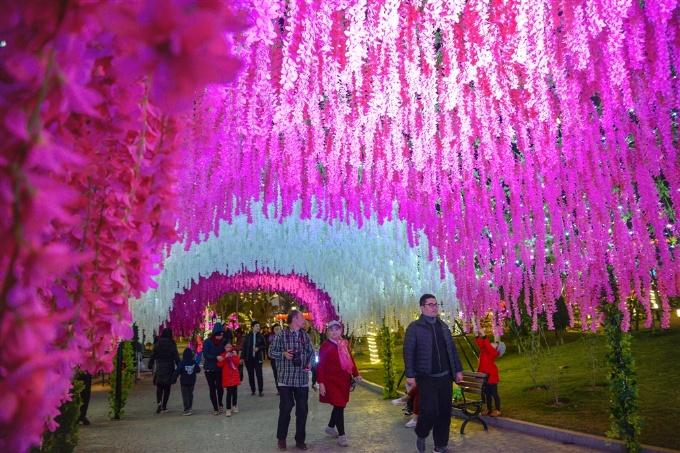 Hàng nghìn du khách tham dự lễ hội 'Kỳ quan muôn sắc hoa' Hạ Long