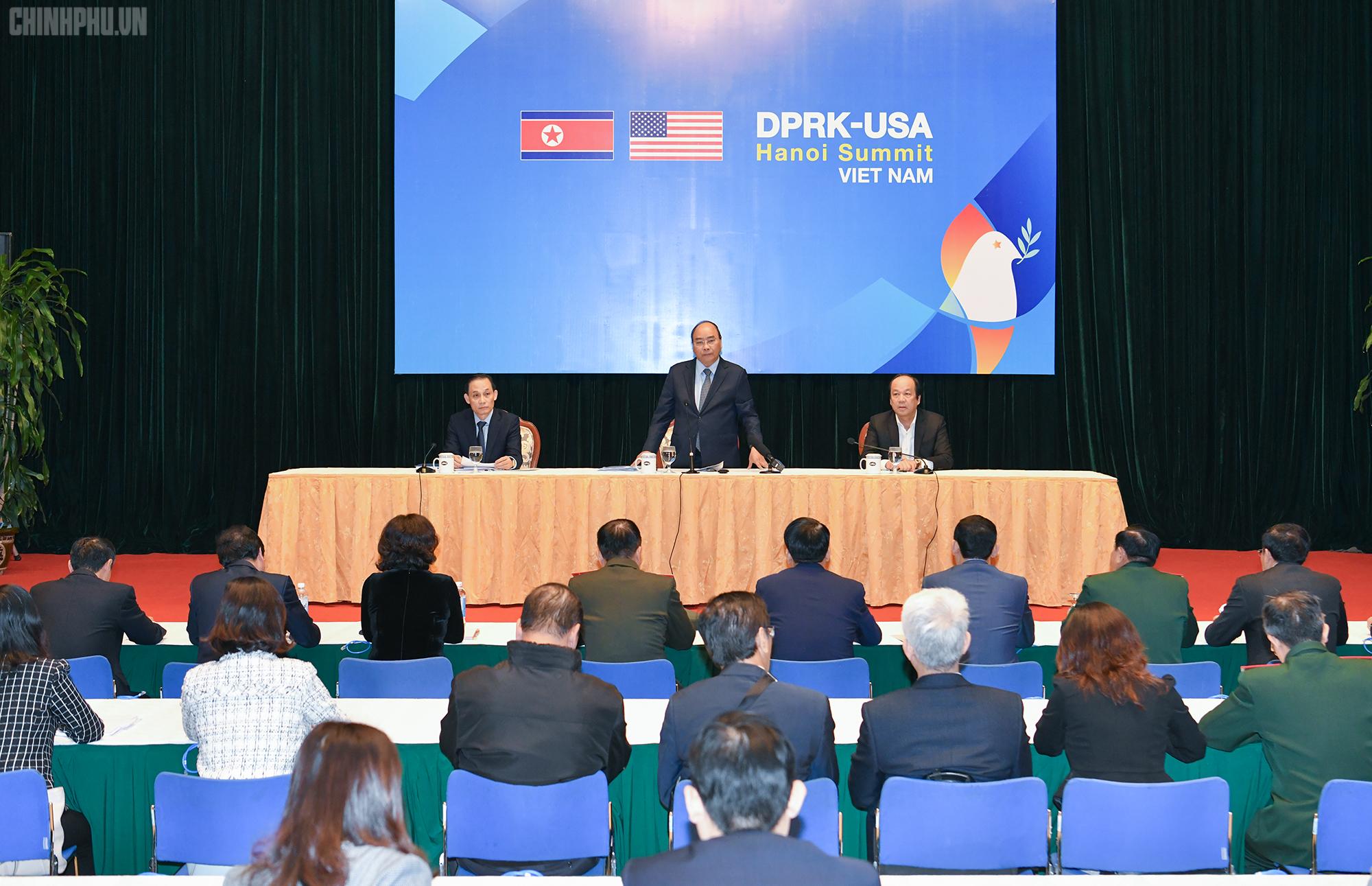 Thủ tướng yêu cầu chuẩn bị các điều kiện tốt nhất, chu đáo nhất cho Hội nghị thượng định Mỹ - Triều