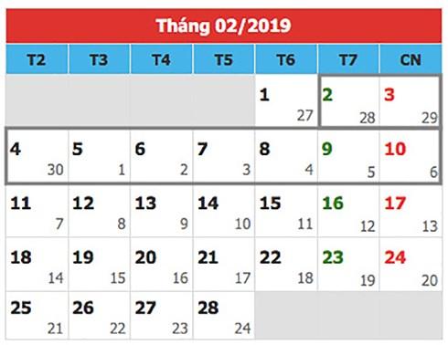 Sẽ trình Chính phủ phương án nghỉ Tết nguyên đán 2019 trong 9 ngày
