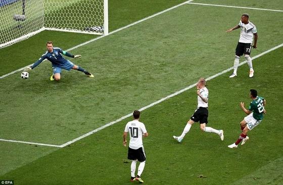 Nhà đương kim vô địch Đức bất ngờ thất bại trong ngày ra quân trước Mexico với tỷ số 0-1