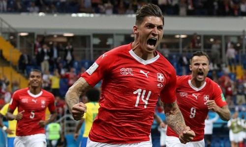 Thụy Sĩ gây bất ngờ khi cầm hòa Brazil ở trận ra quân World Cup